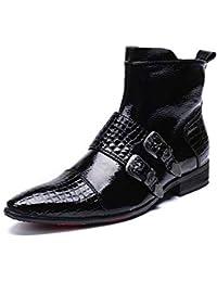 7d409a6867987 Rui Landed Botines de Moda para Hombre Botines de Piel de Serpiente de Cuero  Genuino Botines de Bota Superior…