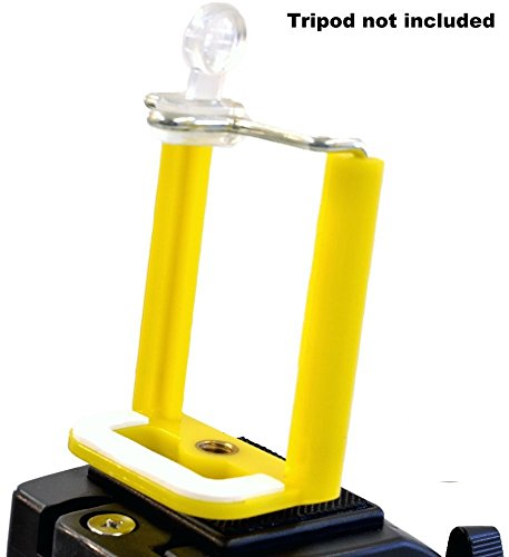 Aeoss ® Camera Stand Clip Bracket Holder Tripod Monopod Mount Adapter for Mobile Phone (YELLOW)