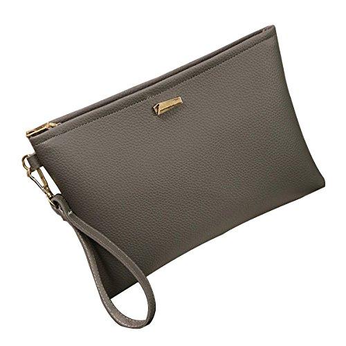 MeiZiWang Frau MeiZiWang Freizeit PU-Leder Messenger Bag Grey