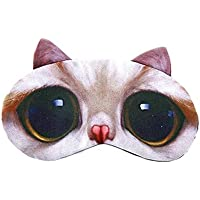 Cartoon Sleep Mask,3D Cute Cat Mask Travel Sleep Soft Padded Shade Cover Rest Relax Blindfold with Ice Pack preisvergleich bei billige-tabletten.eu
