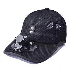 Idea Regalo - Cappello da Esterno Sportivo Estivo con Ventola Interruttore, Cappello di Raffreddamento Ventilatore USB, Facile e Confortevole, Protezione Solare, Fresco, per Uomini e Donne