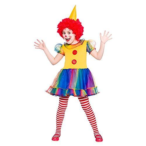 Girls Little Clown Fancy Dress Up Party Costume -