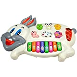Toyshine Rabbits Musical Piano with 3 Modes Animal Sounds, Flashing Lights & Wonderful Music
