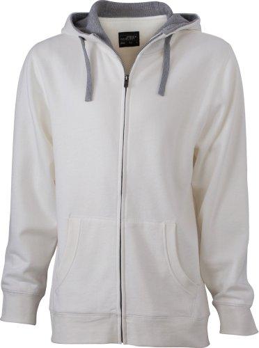 """J&N - donne """"stile di vita"""" - giacca con cappuccio (JN962) Eierschale/Erikagrau"""