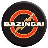 Fernseher Button mit Werbe-Motiv Bazinga! Aus The Big Bang Theory, 2,5 X 2,5 cm