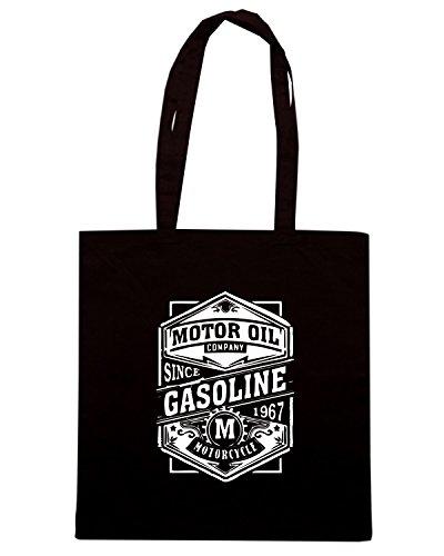 T-Shirtshock - Borsa Shopping TB0372 motor gasoline Nero