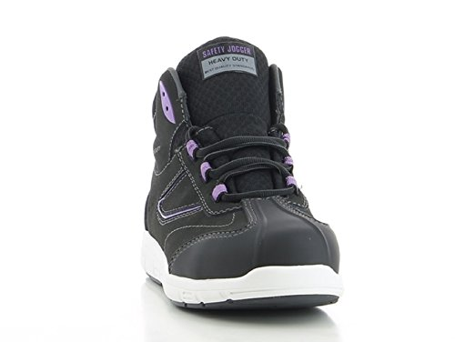 Safety Jogger  Beyonce, Chaussons montants femme Schwarz/Lila/Weiß