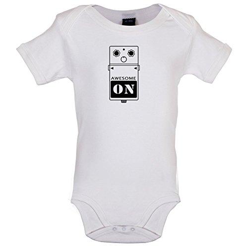 Gitarren Pedal - Lustiger Baby-Body - Weiß - 3 bis 6 Monate