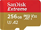 SanDisk Extreme 256 GB microSDXC Memory Card + SD Adapter with A2 App Performance up to 160 MB/s, Class 10, U3, V30