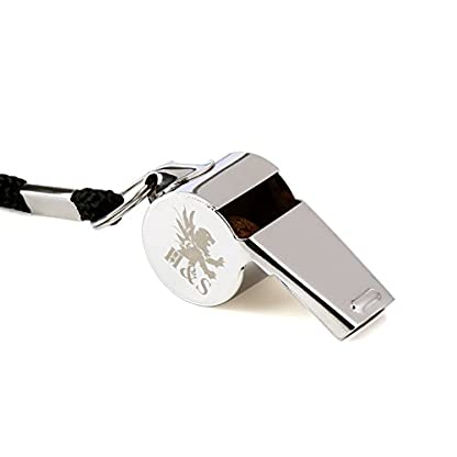 H&S 3 Whistles - Referee Whistle - Sports Whistle Metal Coach Whistle with Lanyard for Football Stainless Steel 2