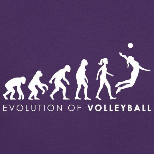 Evolution of Woman - Volleyball - Damen T-Shirt - 14 Farben Lila
