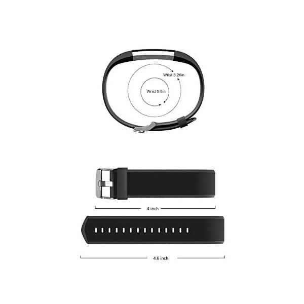 Aitoo® ID115 Plus Correas de Repuesto de TPU para Reloj de Pulsera de Fitness ID115 Plus HR, 5 Colores, Negro/Azul/Morado/Verde/Rosa 2