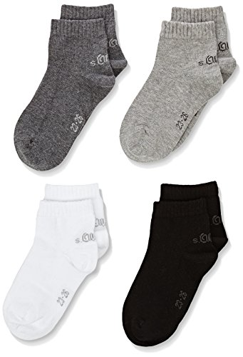 s.Oliver Socks Jungen Sneakersocken S21008, 4er Pack, Grau (grey combination 49),23/26