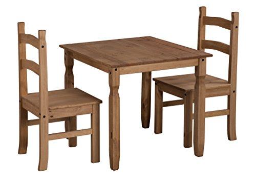 """La corona-extremadamente competitiva y compacto 32""""mesa de comedor cuadrada con dos sillas hace que el aspecto popular mexicano asequible para todos.-Libre entrega al día siguiente de trabajo"""