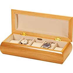 Small Champagne Rose Watch Box by Mele and Co
