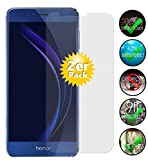 Smartphone-Equipment [2er Pack] Panzerglas für Huawei Honor 8 Echt-Hartglas 9H, Glasfolie Schutzfolie Glas Folie Panzerfolie Display Schutz
