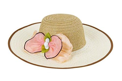 Emballage chapeau de papier grande fleur mode chapeau de soleil bouchon casual chapeau féminin ( couleur : Le jaune ) Marron