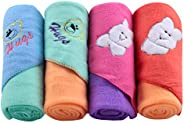 Cutieco All Season Use 3 in 1 Baby Bedding/Wrapper/Blanket for New Born Babies (Multicolor)-Pack of 4