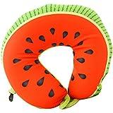 Aosbos Almohada de Viaje Cojín Cervical de Forma como Frutas