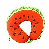 Aosbos Almohada de Viaje Cojín Cervical de Forma como Frutas (sandía)