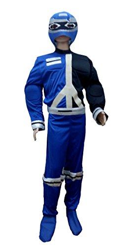 (Inception Pro Infinite (Größe 14 - 16 Jahre) Kostüm - Power Rangers - Blaue Farbe - Kinder - Karneval - Halloween - Verkleidung - Cosplay - Geschenkidee)
