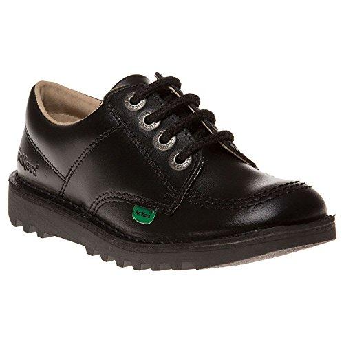 New Kickers Kick Neko Single Black Leather YM School Work Shoes  UK 5  EU 38