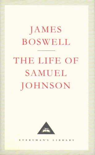 The Life Of Samuel Johnson (Everyman's Library Classics) por James Boswell