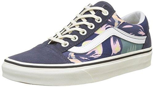 Vans Old Skool, Chaussures de Running Femme Multicolore (Navy/marshmallowvintage Floral)