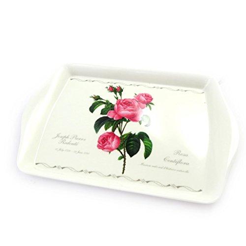 Bandeja pequeña 'Jardin Botanique'rosa blanca.