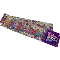 Happy Retirement Banner Pack Foil With Multi Dots Wall Decoration (BGC) 147