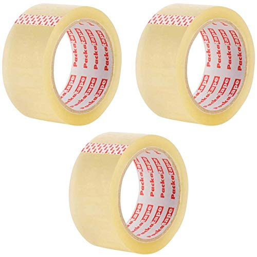 3 Rolls Packatape 48MM x 66M Cle...