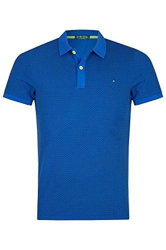 shockly Herren Poloshirt mit Alloverprint 4X3608 Cobalt