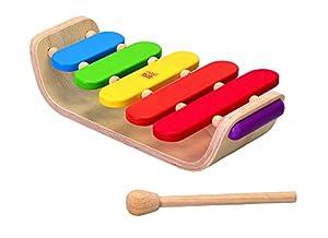 Plan Toys-0640502 Xilófono Ovalado, Instrumento de Juguete, Multicolor (PlanToys 6405)