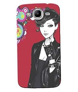 Fuson Rocking Girl Back Case Cover for SAMSUNG GALAXY MEGA 5.8 - D4032