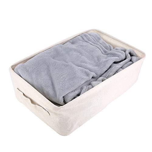 Aufee Desktop-Ablagekorb, Faltbarer Ablagekorb Platz Baumwolle Leinen tragbare Toy Organizer Verwendung für zu Hause(M) -