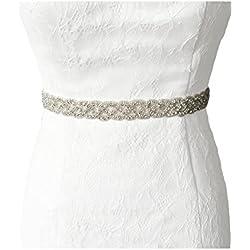 Vococal - Fusciacca in Vita Cintura Sash Abito da Sposa Matrimonio Vestito  di Nastro di Raso c84870a9977