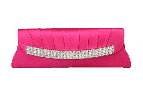 Mode Hochzeit Abend-formales Cocktail Kupplungs-Geldbeutel Handtasche Pink