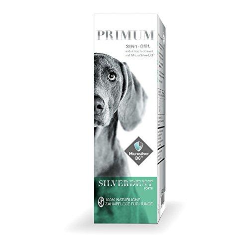 Primum | SilverDent Forte 3in1 | Gel 125ml | 100% natürliche Zahnpflege für Hund und Katze | Gegen Zahnstein, Karies und Zahnfleischentzündungen | Schützt vor Bakterien | Bekämpft unangenehmen Mundgeruch