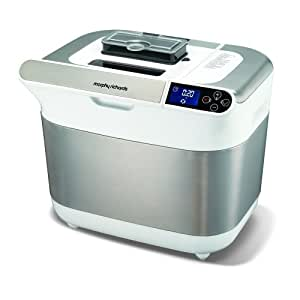 Morphy Richards Premium Plus Breadmaker White 48324 with MF® Chenille® Cleaning Glove