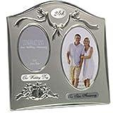 The Emporium Home - Cornice per foto, 25° anniversario di matrimonio, in silver plated, colore a doppia tonalità