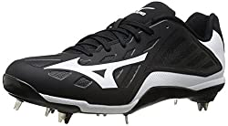Mizuno Mens Heist IQ Baseball Cleat Black / White 16 D(M) US