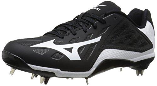finest selection b46d9 75bf2 Mizuno Men s Heist IQ Baseball Cleat, Black White, ...