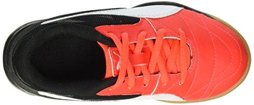Puma Veloz Indoor Iii Jr, Chaussures de Fitness Mixte Enfant Rouge - Rot (Red blast-White-Black 01)