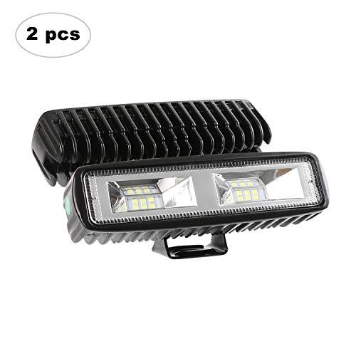AAIWA Faro da Lavoro LED 60W 6000LM 6' Faretti a LED per Auto Barra LED Fuoristrada 4 Pollici LED Pods per SUV ATV UTV Truck Barca, 2 Pezzi, 2 Anni di Garanz