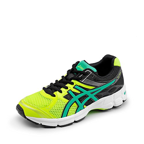 Asics Gel Pulse 7 GS Flash Yellow Peacock Green Black Schwarz