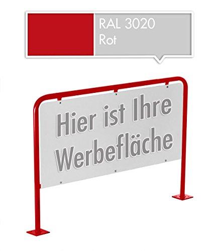 Werbetafel Werbeschild Firmentafel 80 x 120 cm in verschiedenen Farben (Rot)