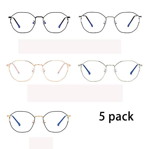 5 Packung Blue Light Blocking Computer Brille für Augenbelastung Anti Glare Screen Blocker Blue Filter Brillen für Männer und Frauen