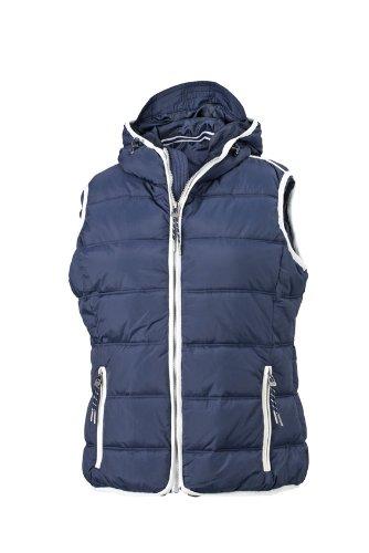 Maritime Navy Bekleidung (James & Nicholson Damen Jacke Weste Ladies' Maritime Vest blau (Navy/White) Medium)