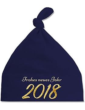Weihnachten Baby - Happy New Year 2018 Gold Silvester - Baby Mütze mit einfachem Knoten als Geschenkidee