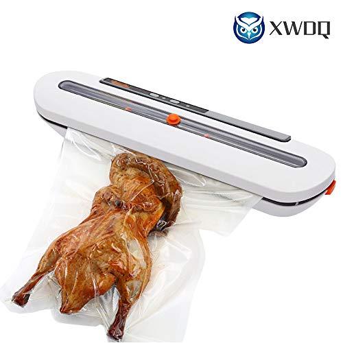 XWDQ Vakuum Nahrungsmitteleichmeister 220V / 110V Haushaltsnahrungsmittelautomatische Vakuumeichmeister-Verpackungsmaschine mit 10pcs Beuteln Beste Küchengeräte